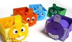 паровозики коробки-раскладки