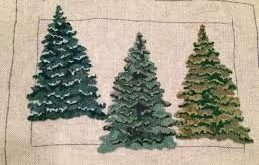 evergreen trees for rug hooking - Google Search
