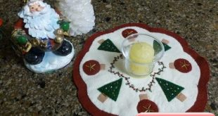 Christmas Wool Applique Penny Rug