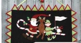 Christmas wool applique
