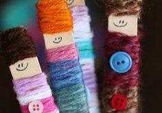 Craft Stick Yarn Dolls Kids for Kids to Make