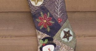 Crazy for Christmas Wool and Flannel Stocking Pattern