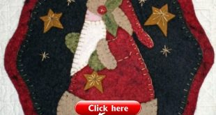 Details about Four CHRISTMAS CANDLE MAT PENNY RUG PATTERNS to choose from for Wool Felt