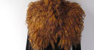 Felted collar - mustard brown