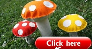 Free Felt Patterns and Tutorials: Free Tutorial > Colorful Wool Felt Toadstools