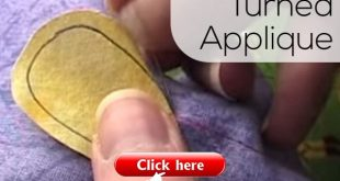 How to Do Needle Turn Applique - video