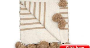 Moroccan Pom Pom Blanket Throw Berber Blanket Wool Blanket | Etsy