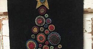 "Pattern: Wool Applique ""Penny Christmas Tree"" Pattern by Heartfelt Wool Expressions"