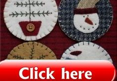 The Wooden Acorn: TDIPT MERCANTILE - Wool Applique Folk Art Penny Rug Mat and Ch...