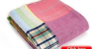 Tweedmill Large PATCHWORK Bright Wool Blanket