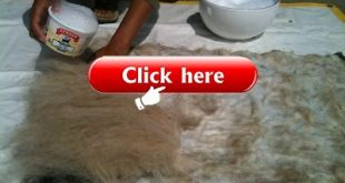 Wet felting from raw wool