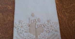 Winter White Wool Applique Ornament