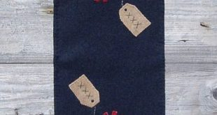Wooden Spool Designs Presents Table Runner The Pattern Hutch wool applique craft...