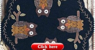 Wool Applique Candle Mat Pattern - Bing images