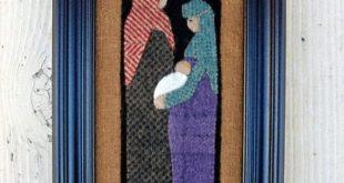 Wool Applique Christmas Pattern - A Gift From Bethlehem - Nativity - Birth of Jesus - #BPJ 340