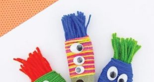 Yarn Wrapped Rock Monsters - Rock Crafts