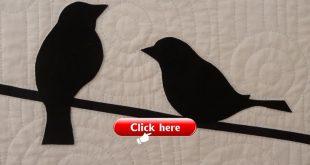 quilting - wool felt applique bird quilt
