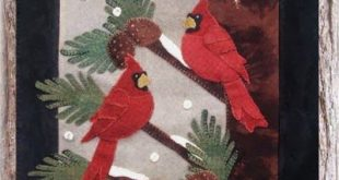 Crane Design by Jan Mott Wool Applique Penny Rug & Punchneedle Patterns: New Pat...