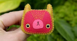 Angelica - wool felt brooch by *Hannakin on deviantART The stitching makes this ...