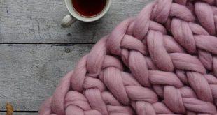 Chunky knit blanket, merino yarn BLANKET,Knitted throw, Chunky yarn throw,bulky yarn blanket,merino wool blanket, Chunky yarn blanket