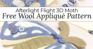 Free Pattern: Afterlight Flight Wool Appliqué