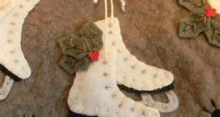 Ice Skates Penny Rug/Candle Mat DIGITAL PATTERN