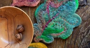 Needle Felted Wool Leaves Tutorial | SimplyNotable.com  Note: needle felted leav...