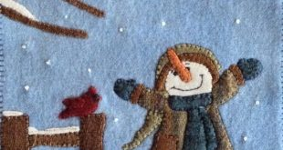 Primitive Applique Patterns Free | Primitive Folk Art Wool Applique Pattern FLOW...