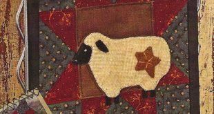 Primitive Folk Art Quilt/Wool Applique Pattern by PrimFolkArtShop, $2.95