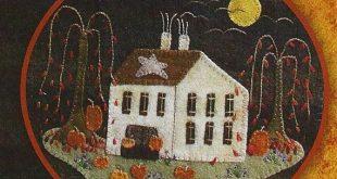 Primitive Folk Art Wool Applique Pattern: by PrimFolkArtShop  Love love this I h...