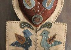Rebekah L. Smith wool appliqué