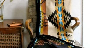 Reserved for C Wool Blanket Native American Design in Gold Black Teal