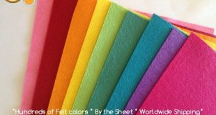 real felt - soooo many colours and patterns