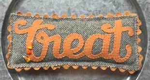 Trick or Treat Trio Wool Appliqué