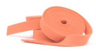 Wool Felt - 100 Percent Wool Felt Ribbon in color PAPAYA - 1/2 Inch X 2 Yards - Merino Wool Felt - O