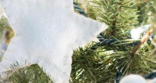 DIY Wool Felt Christmas Tree Garland