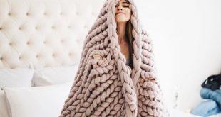 Blush Merino Wool Throw