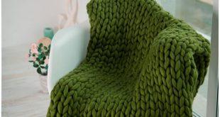 Chunky Blanket home decor Gifts for her Wool blanket Knitted throw Chunky blanket bulky Throw super blanket Chunky Gift Khaki Wedding
