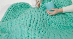 Chunky wool blanket Handmade for Mother's Day, Wedding, Anniversary and Birthday Gift Giant wool bla