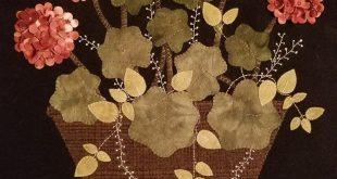 Design: Geranium Beauty by Primitive Gatherings (Lisa Bongean) . Worked By: Dane...
