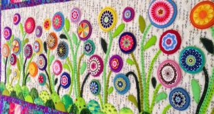 Flower Garden Table Runner (Wendy's quilts and more)