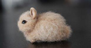 Needle Felted Rabbit, Felted Bunny