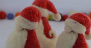 Needle felted Santa Claus, Felted Santa, Christmas, needle felting, felted sculpture, sheep wool