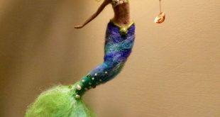 Needle felted mermaid, Waldorf inspired, Wool felted doll, Fairy, Art doll, Sea mermaid, Children room, Home decor, Gift, Mobile