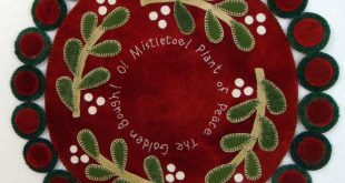 O Mistletoe -- a sweet & simple penny wool applique mat for someone starting out...