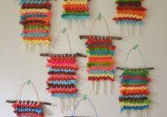 Rainbow Weavings with Koolaid Dyed Yarn