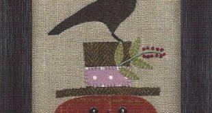 SALE - Primitive Folk Art Wool Applique Pattern:  HAPPY JACK