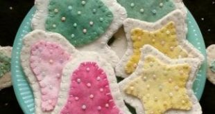 Sugar Cookies Wool Applique Ornaments