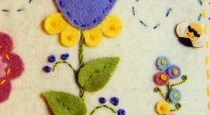 Summer's Garden Pin Cushion Wool Felt Applique by Seriously?