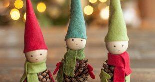 Video Tutorial: Felt and Pine Cone Elves